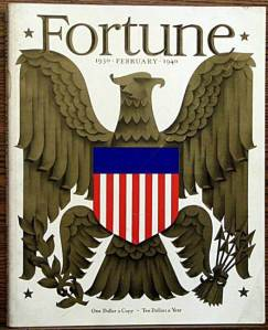 FORTUNE Magazine February 1940 containing Bucky's Trends & Transformation Charts