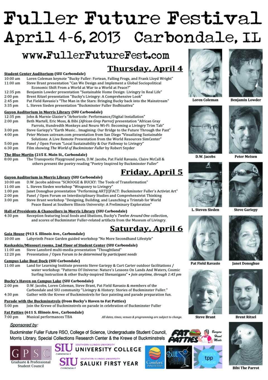 Fuller Future Festival Schedule