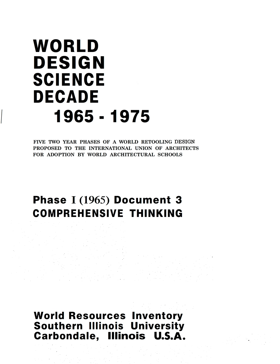 BuckminsterFuller-ComprehensiveThinking-Phase I-1965-Document3-WorldDesignScience