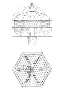 BuckminsterFuller-DymaxionHouse-Blueprints-BlackOnWhite