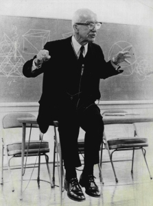 BuckminsterFuller-SittingOnTable