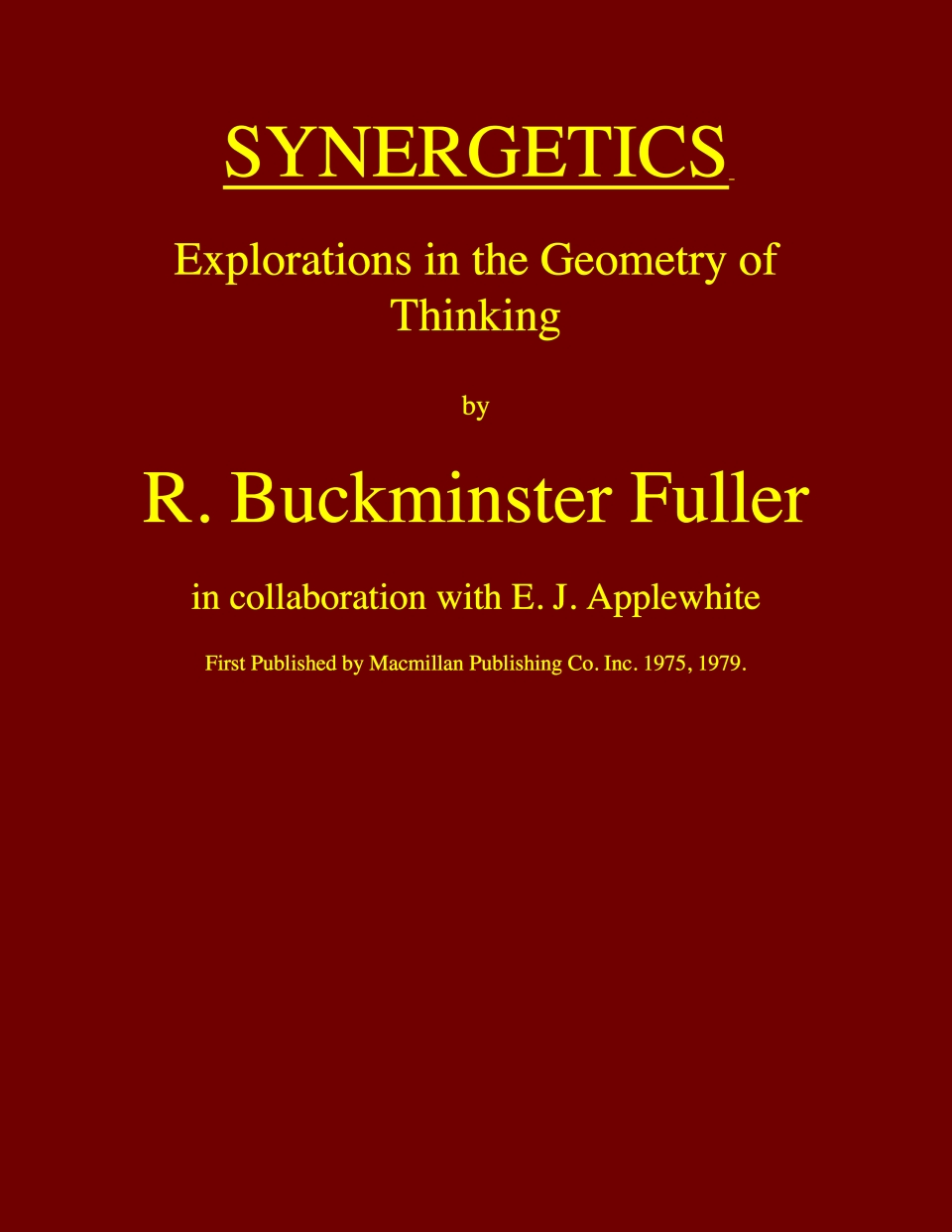 BuckminsterFuller-Synergetics